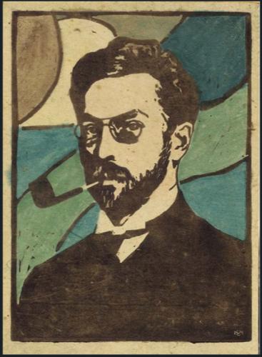 Portrait of Kandinsky by Gabriele Munter