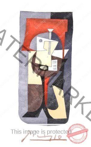 Guitare et partitione - Picasso