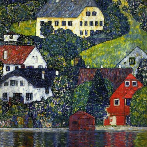 Gustav Klimt - Houses at Unterach