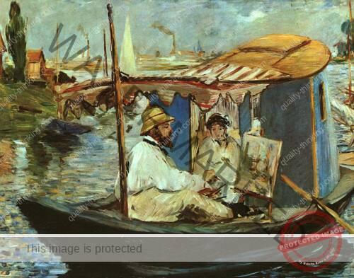 monet-in-his-floating-studio-1874